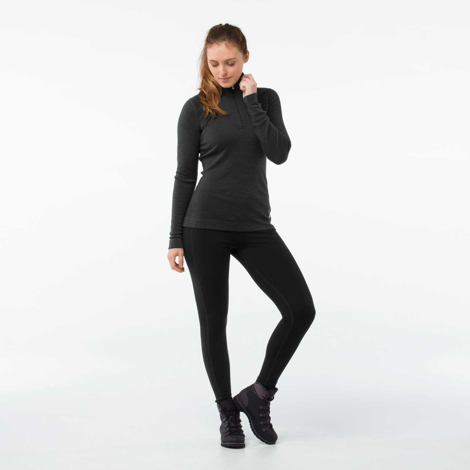 Smartwool Merino 250 Baselayer Women's 1/4 Zip - Charcoal Heather