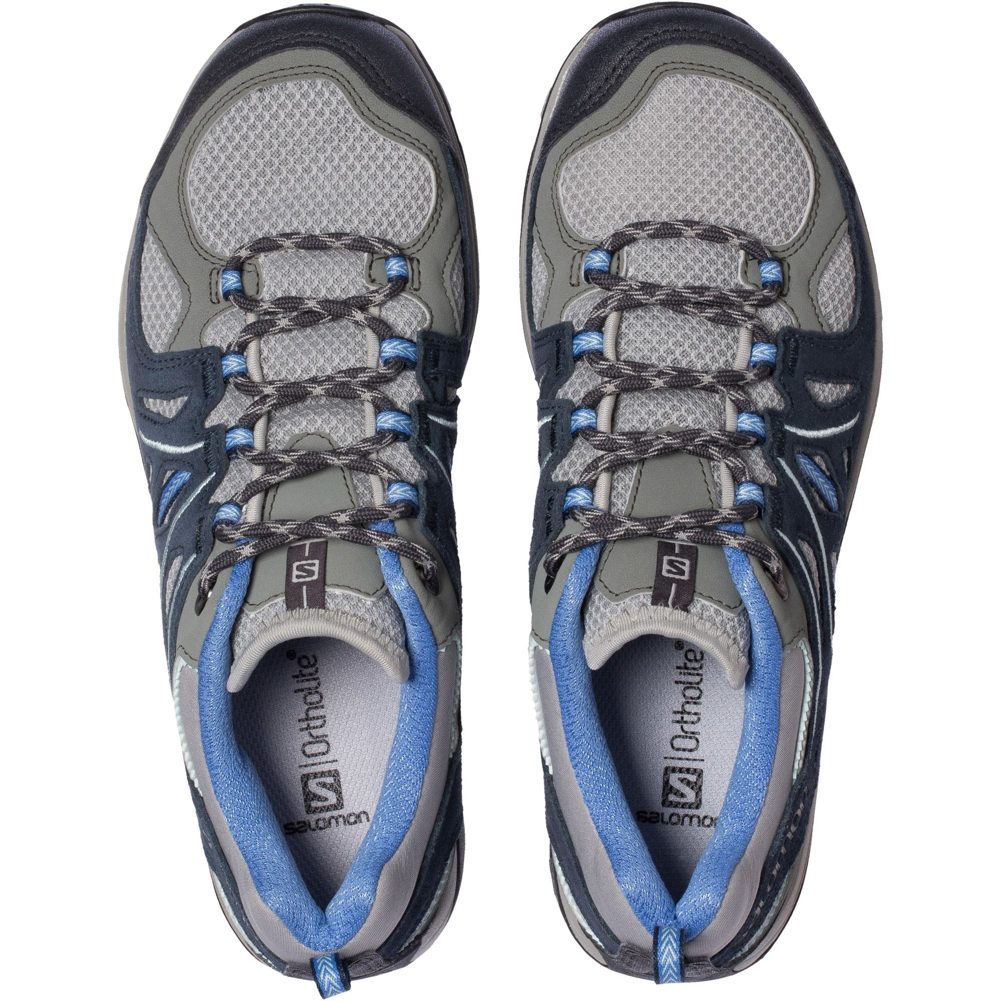Salomon Women's Ellipse 2 Aero Approach Shoe - Titanium/Deep Blue/Petunia Blue