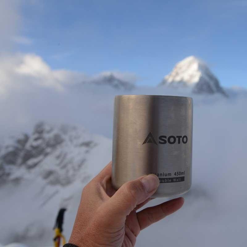 Soto Aero 450ml Titanium Mug with Lid