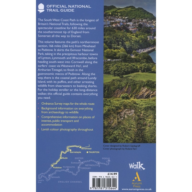 South West Coast Path: Minehead to Padstow: Official National Trail Guide 8 by Aurum Press