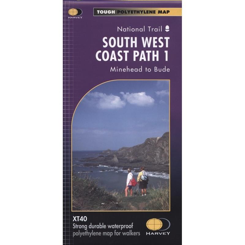 South West Coast Path 1: Minehead to Bude by Harvey