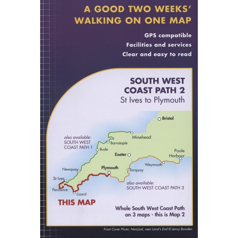 South West Coast Path 2: St Ives to Plymouth by Harvey