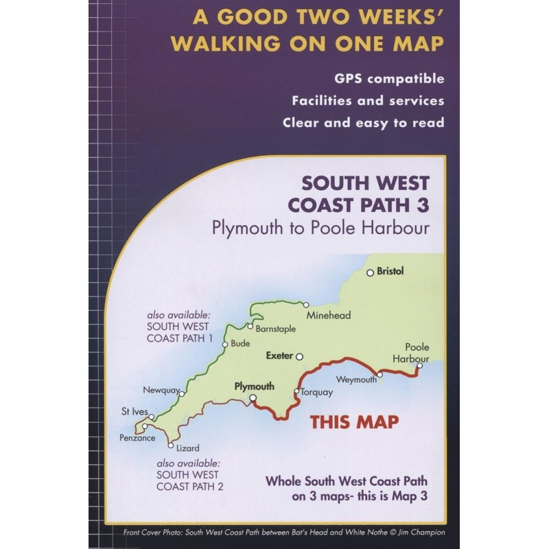 South West Coast Path 3: Plymouth to Poole Harbour by Harvey
