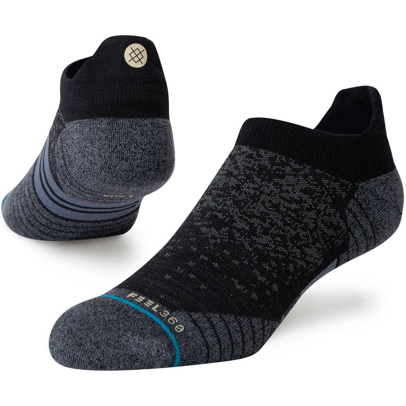 Stance Run Wool Tab Socks - Black