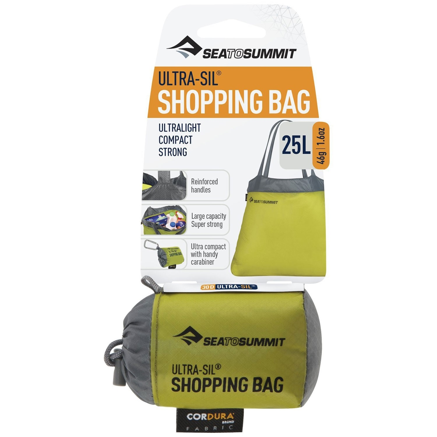 Sea to Summit Ultra-Sil Shopping Bag - Lime - packed