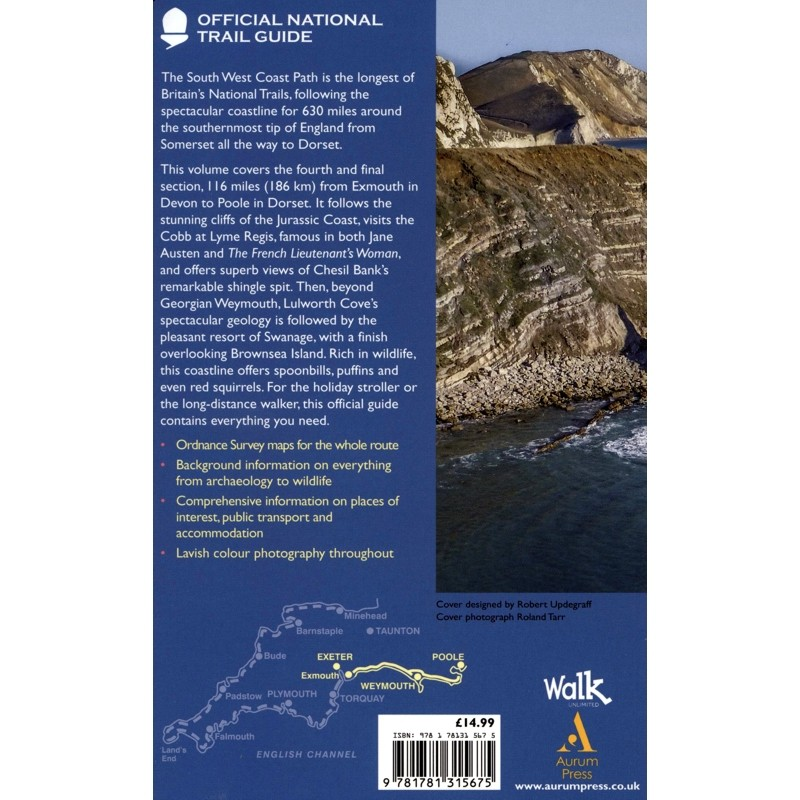 South West Coast Path: Exmouth to Poole: Official National Trail Guide 11 by Aurum Press