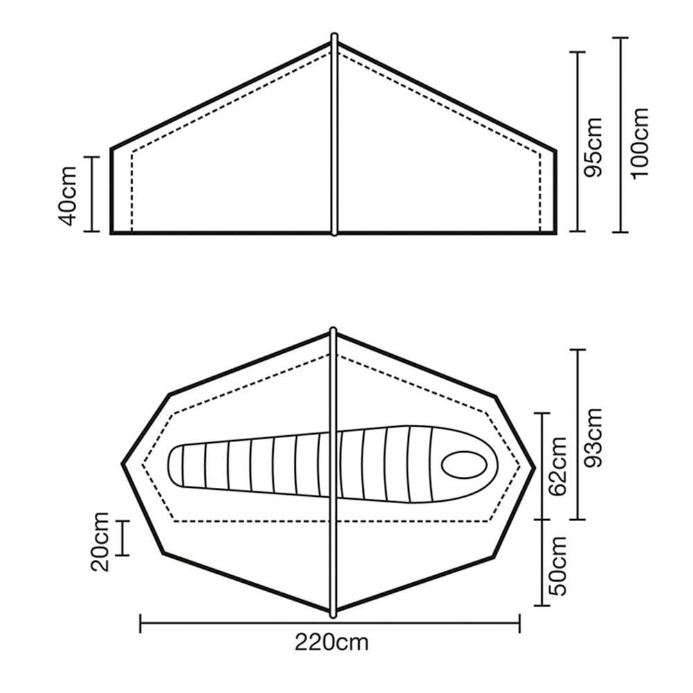 Terra Nova Laser Compact 1 Tent - footprint