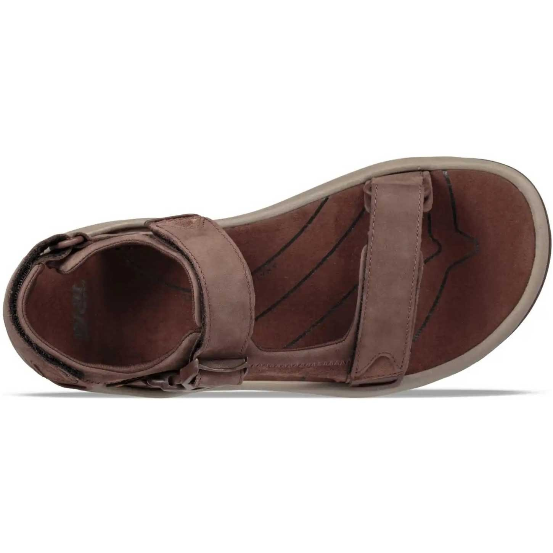 Teva Tanway Leather Sandals - Men's - Chocolate Brown