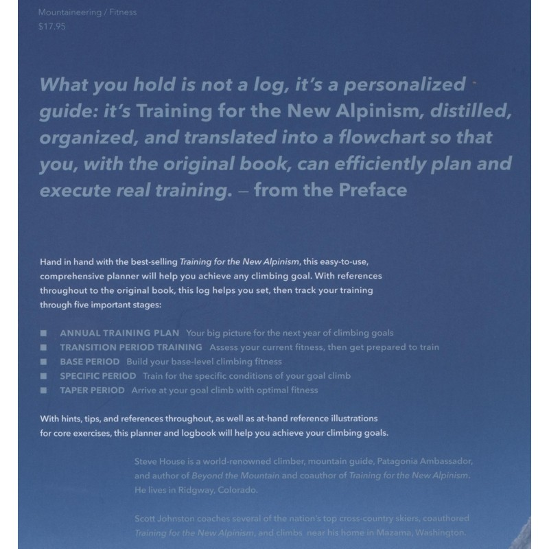 The New Alpinism Training Log by Patagonia