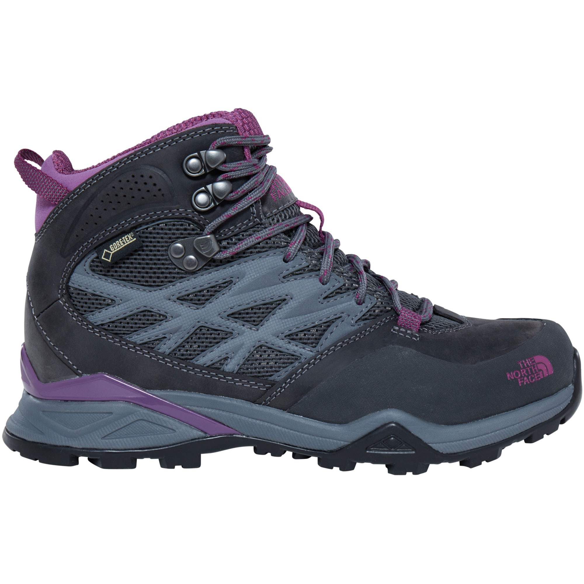 The North Face Women's Hedgehog Hike Mid GTX - Dark Shadow Grey/Woodland Violet
