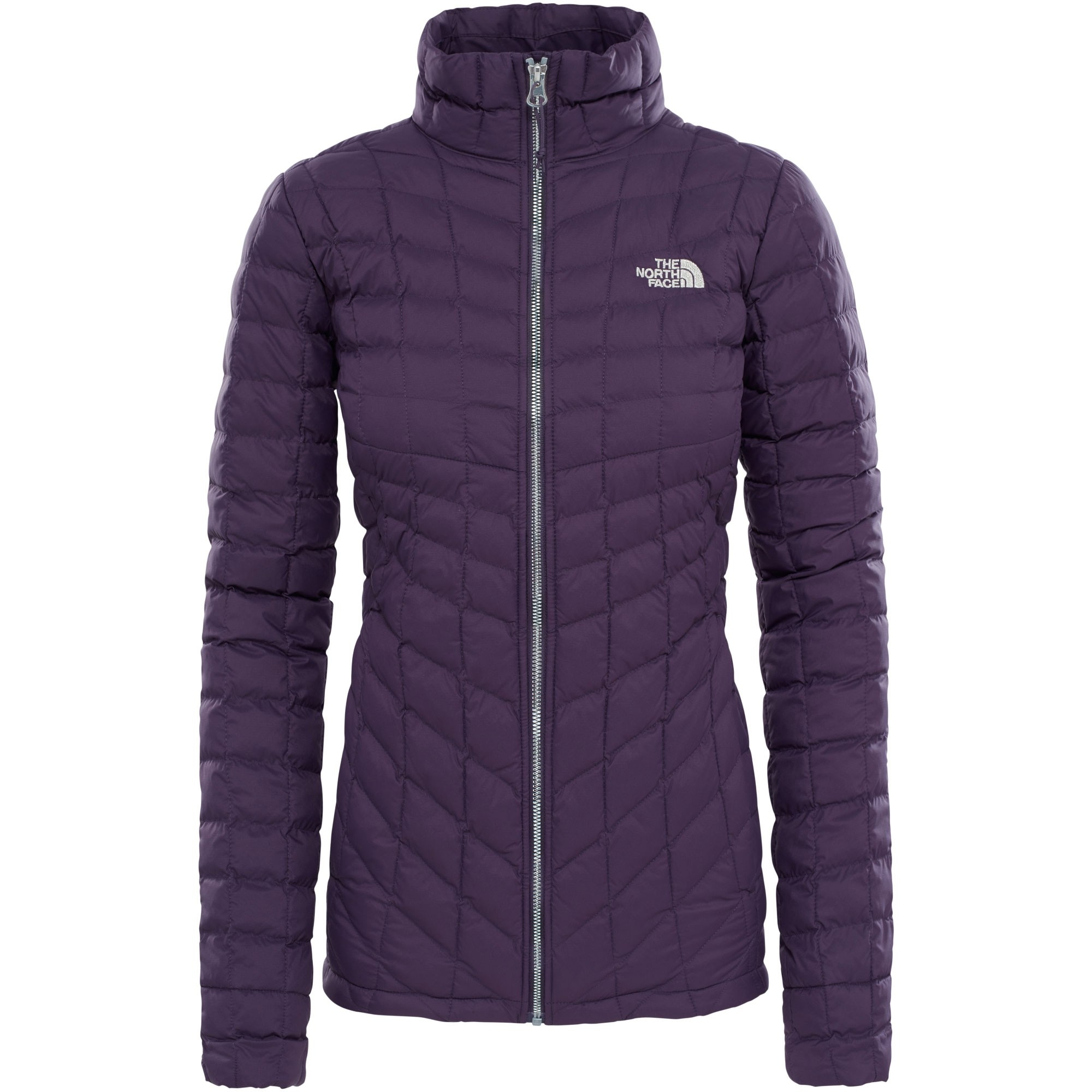 The-North-Face-Womens-Thermoball-Full-Zip-Jacket-Dark-Eggplant-Purple-Metallic-Silver-