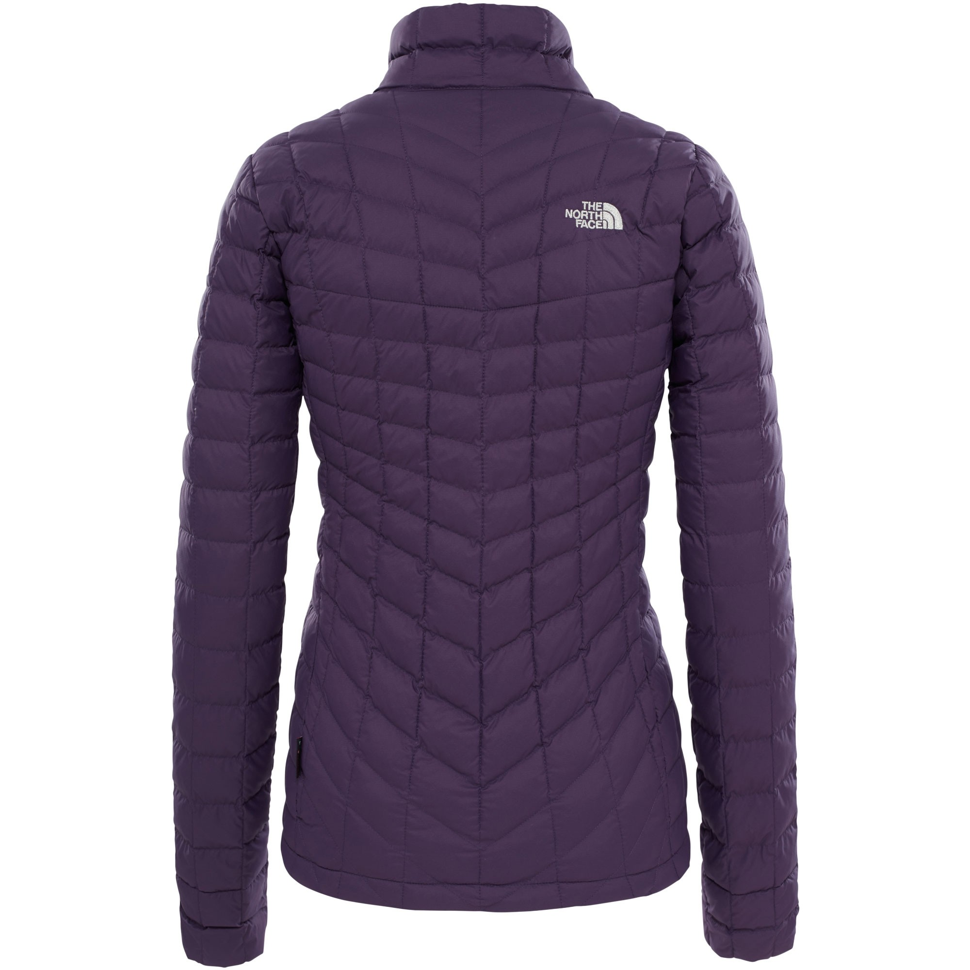 The-North-Face-Womens-Thermoball-Full-Zip-Jacket-Dark-Eggplant-Purple-Metallic-Silver
