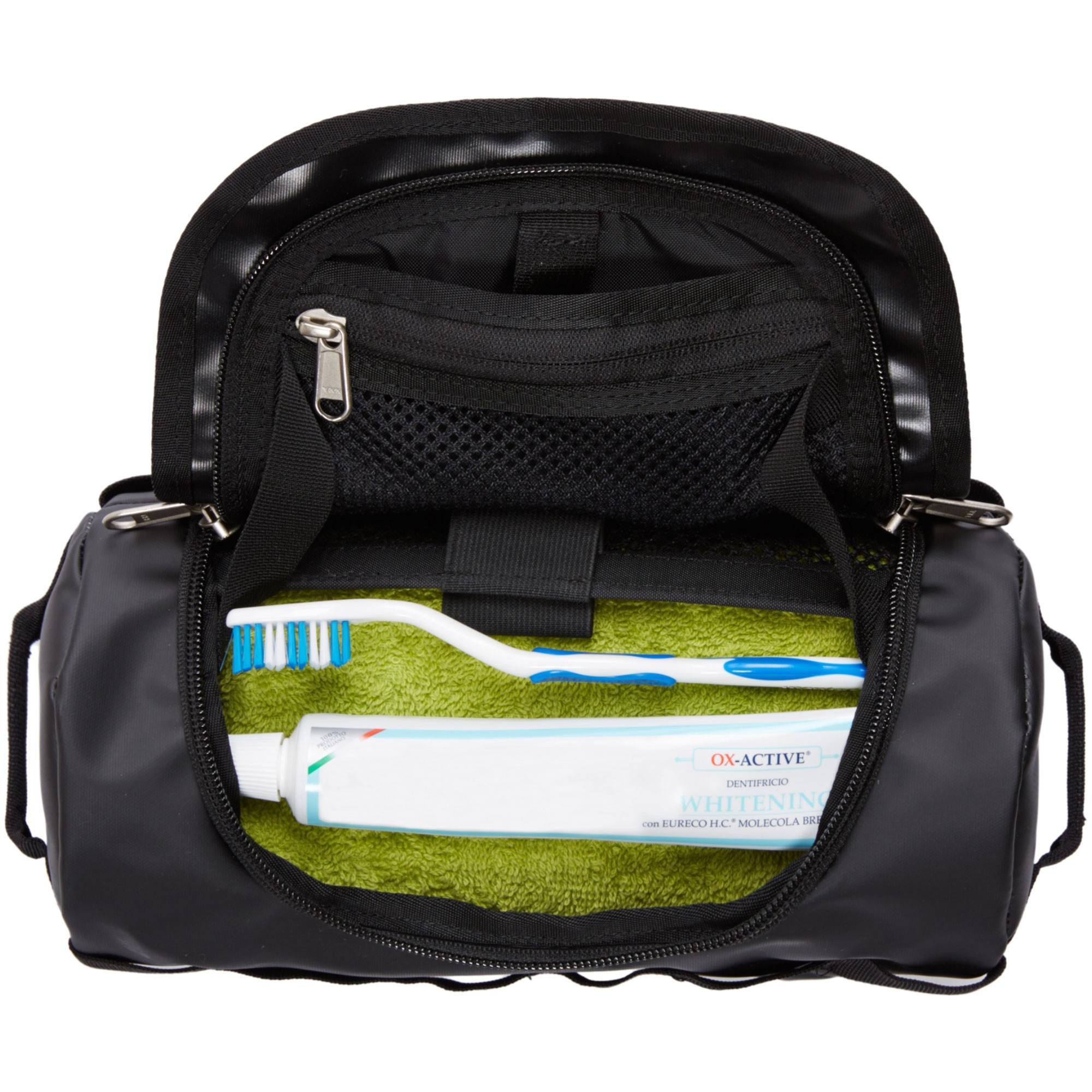 TNF Base Camp Travel Canister Small - TNF Black - packed