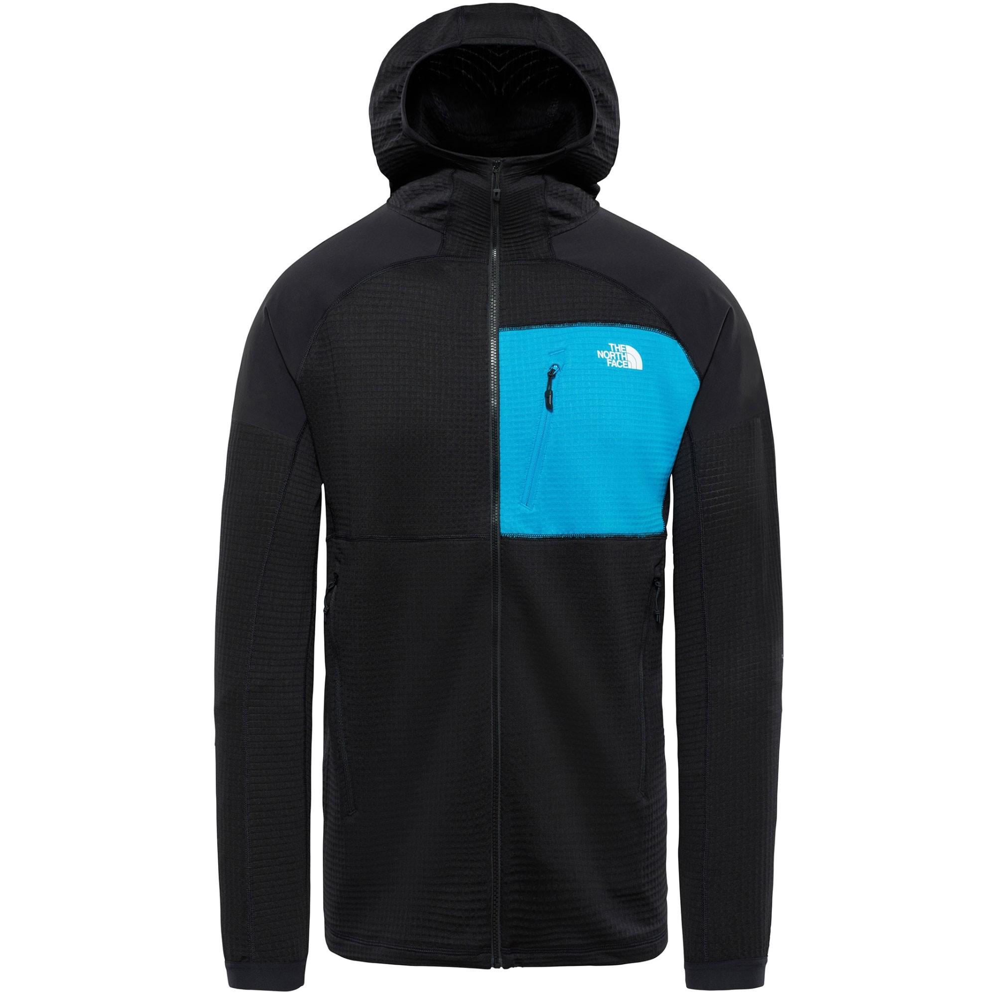 The North Face Impendor Grid Men's Hoodie - TNF Black/Hyper Blue