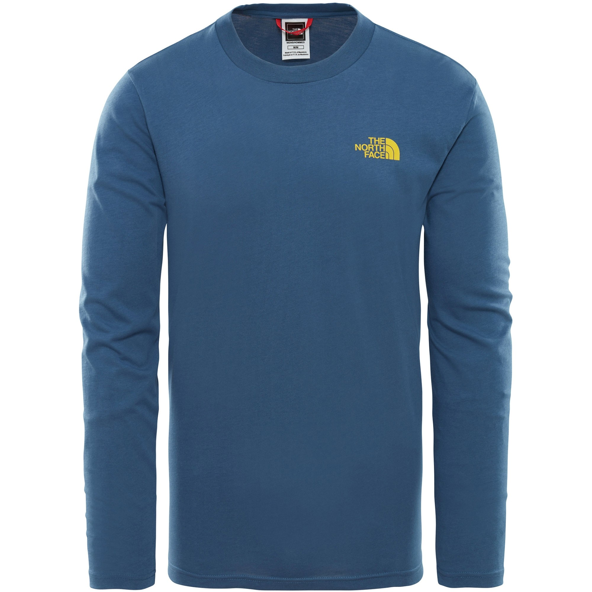 e36889a6710c The North Face Long Sleeve Easy Tee - Shady Blue/Leopard Yellow ...