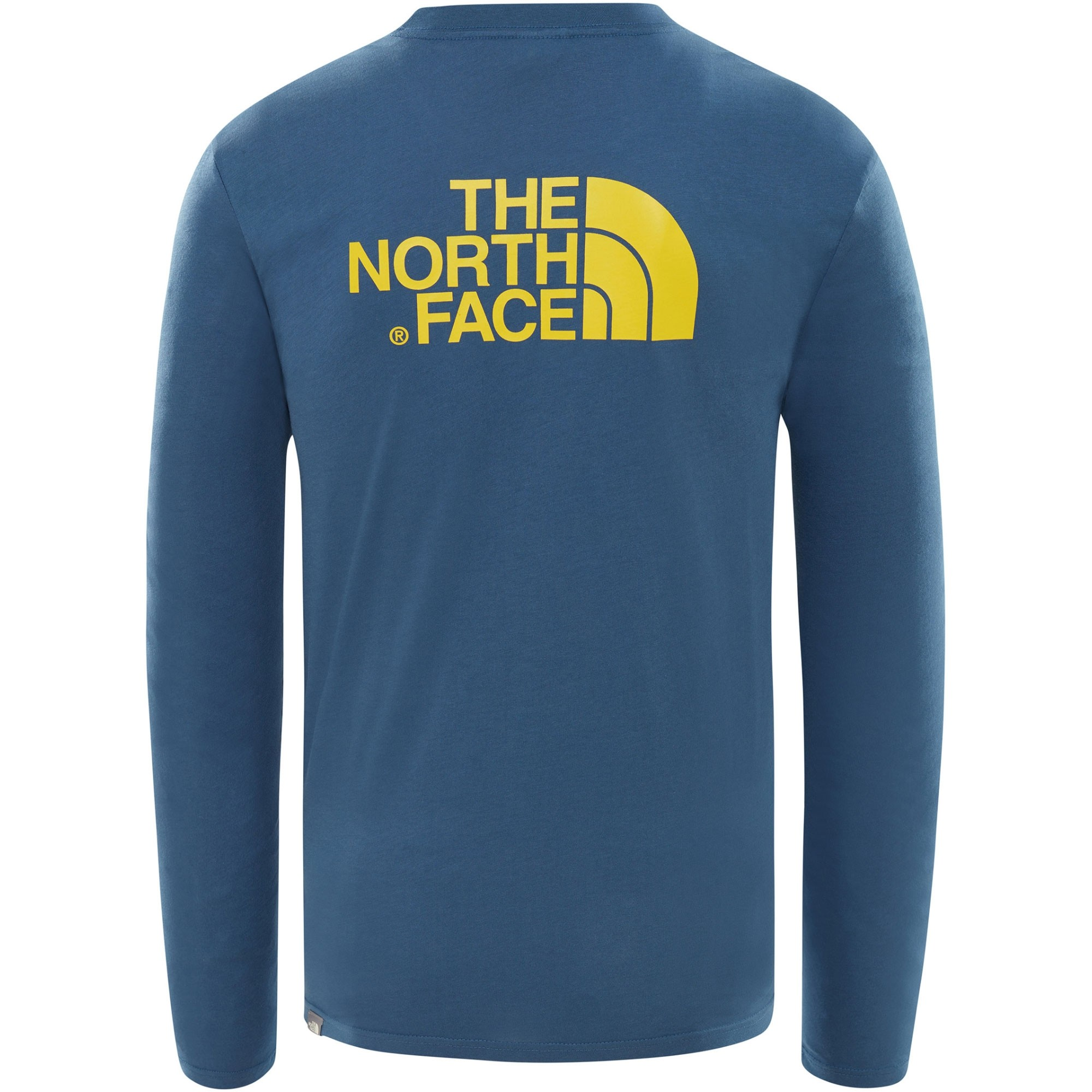The North Face Long Sleeve Easy Tee - Shady Blue/Leopard Yellow