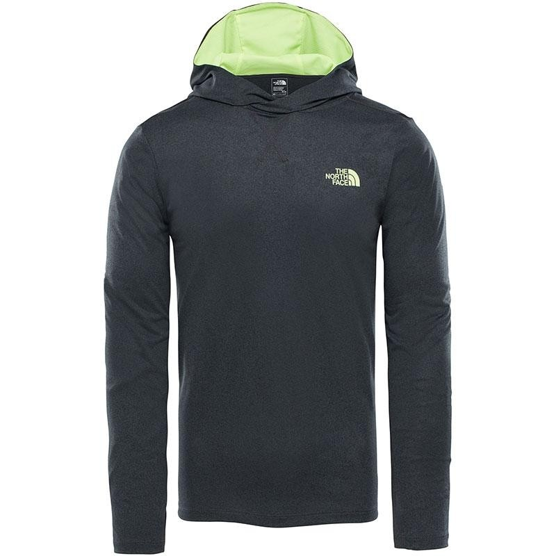 The North Face Reactor Hoodie - TNF Grey Heather Dayglo Yellow