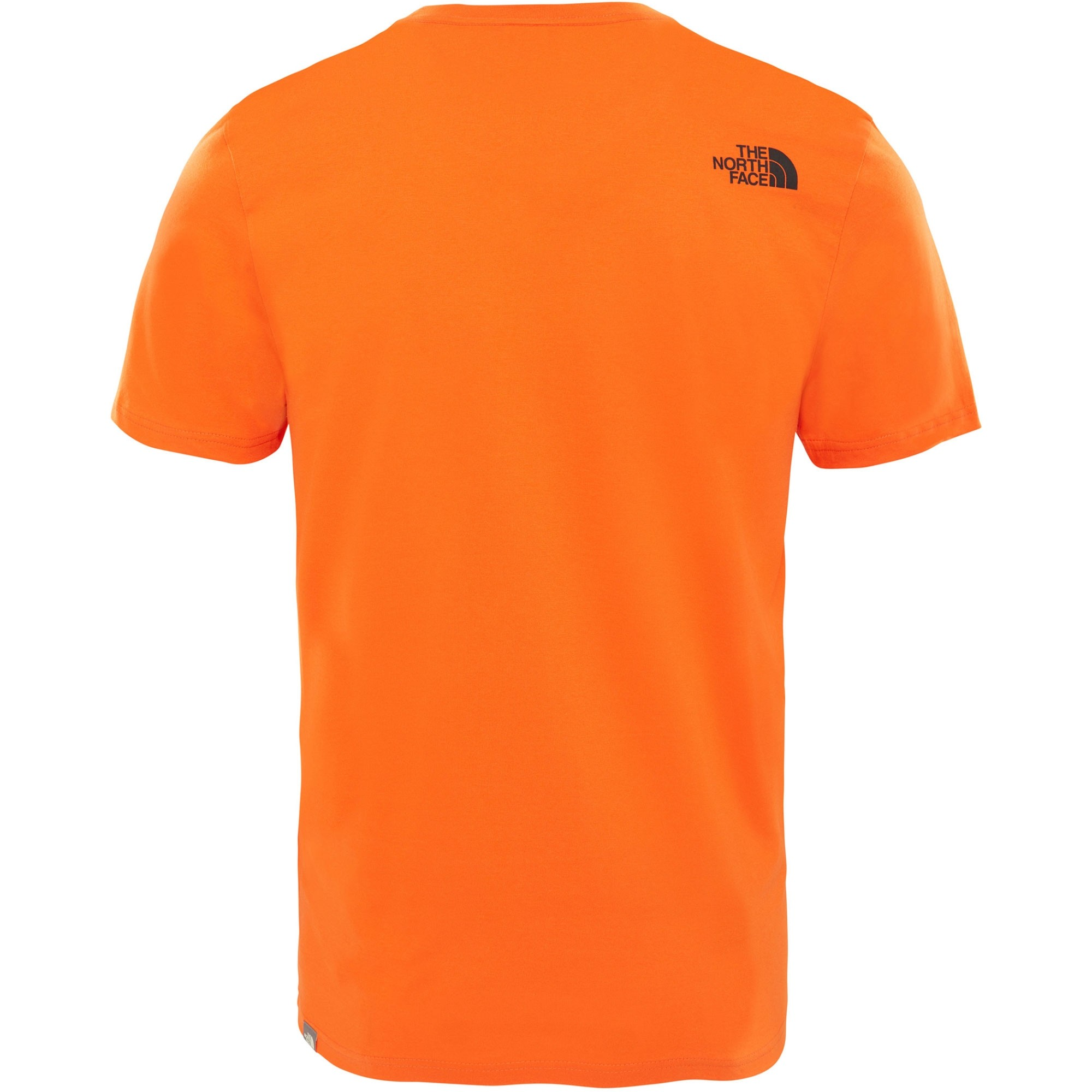 The North Face Short Sleeved Easy Tee - Persian Orange - back