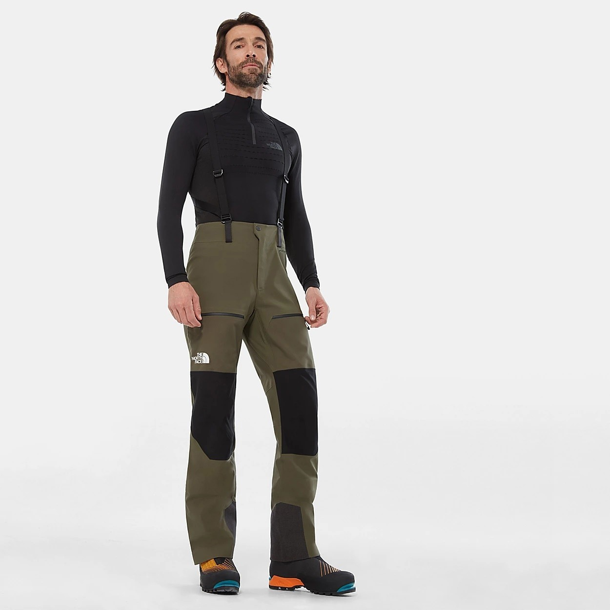 The North Face Summit L4 Hybrid Pant - Men's - New Taupe Green/TNF Black
