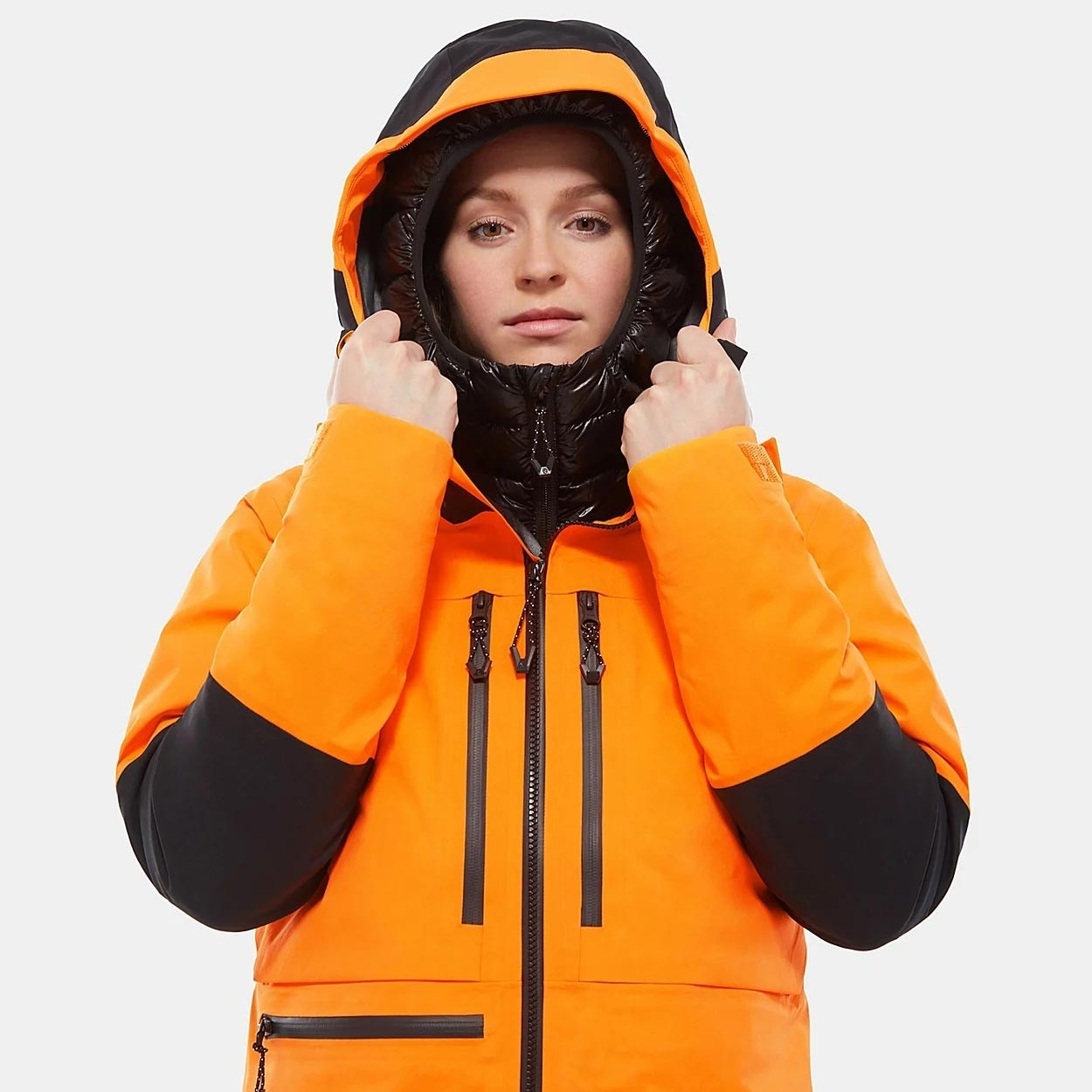 The North Face Summit L5 Jacket - Women's - Knockout Orange/TNF Black