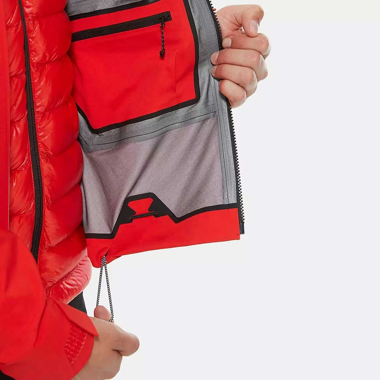 The North Face Summit L5 GTX Jacket - Men's - Fiery Red/TNF Black