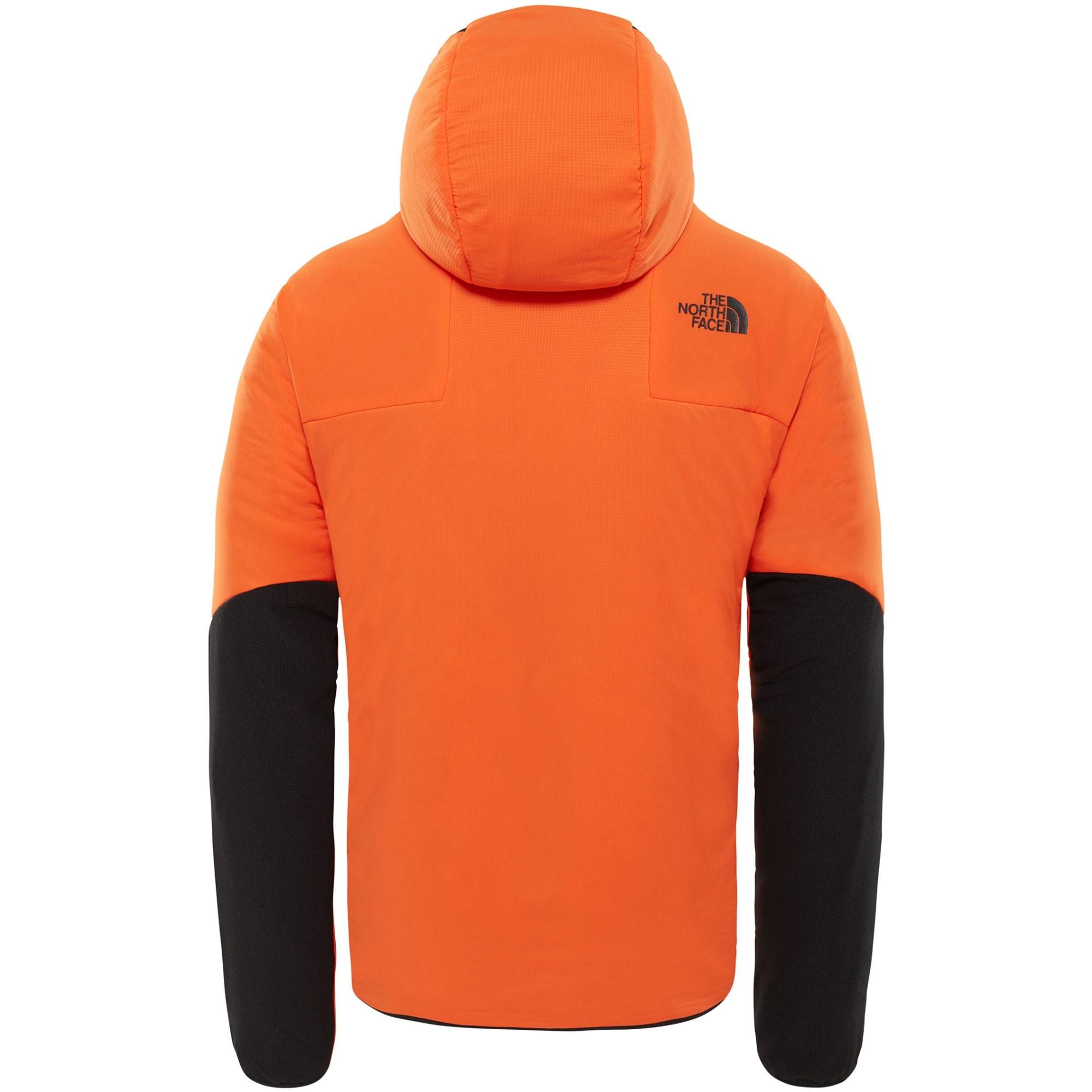 The North Face Ventrix Men's Insulated Hoodie - Persian Orange/TNF Black - rear