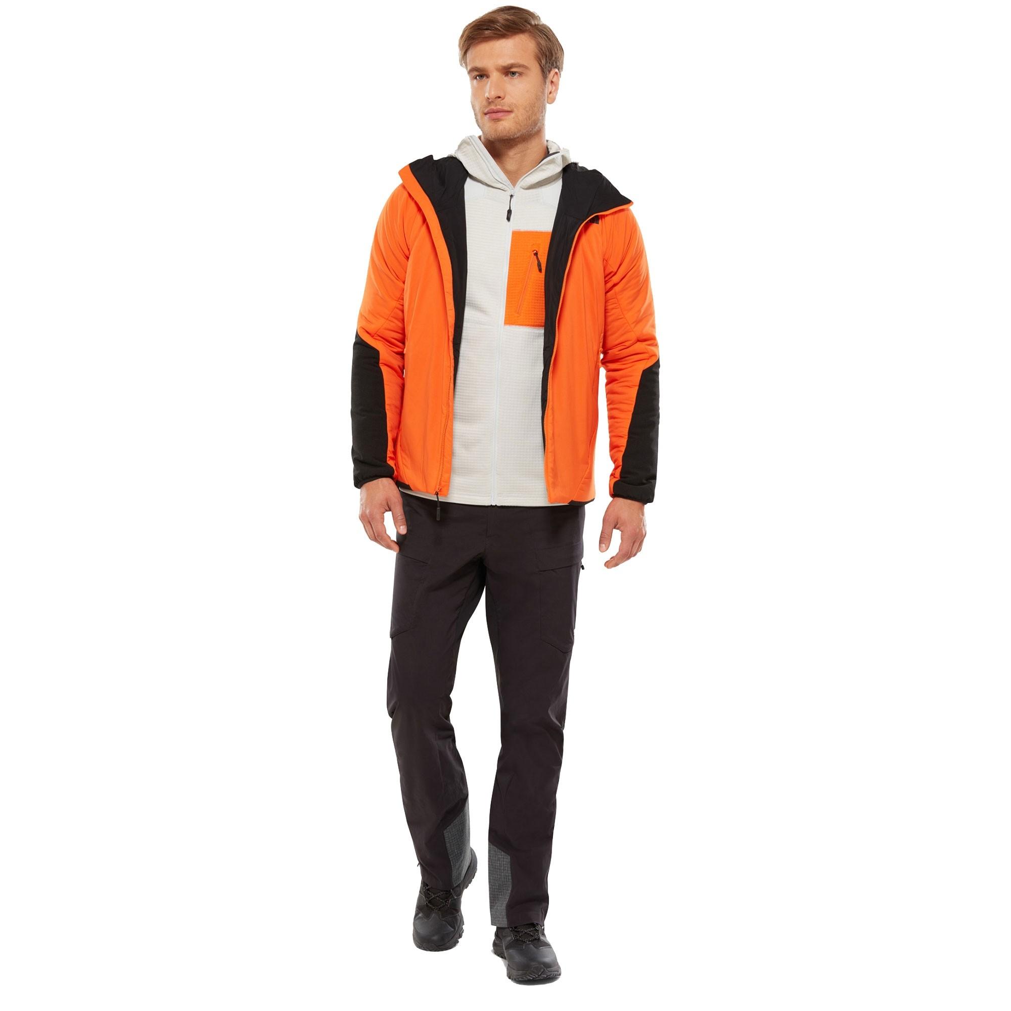 The North Face Ventrix Men's Insulated Hoodie - Persian Orange/TNF Black - front