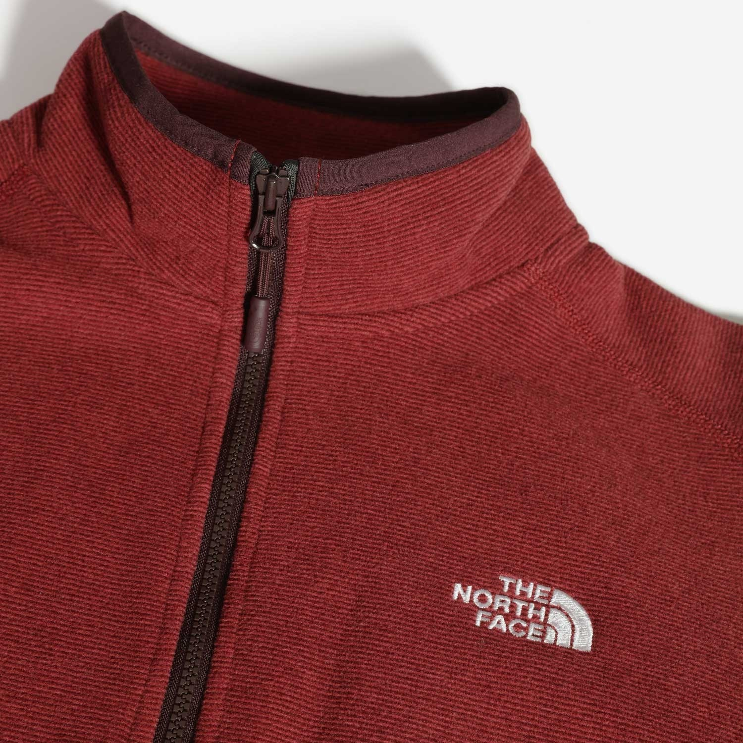 TNF 100 Glacier 1/4 Zip Womens Fleece - Root Brown/Pomegranate Stripe