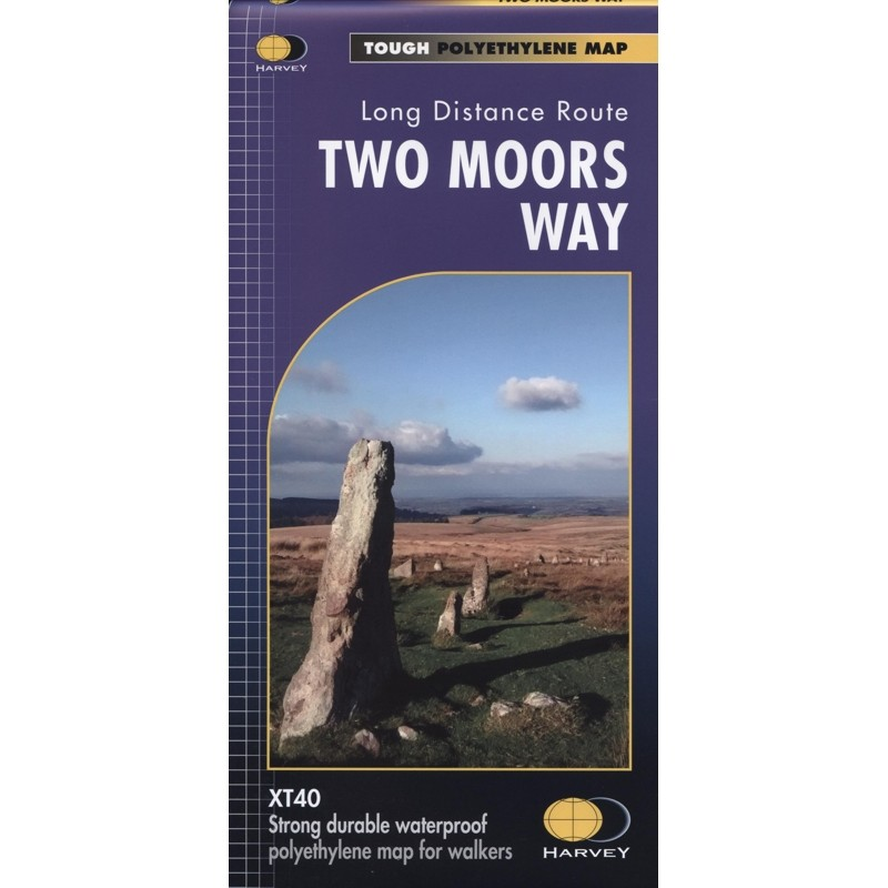 Two Moors Way: Long Distance Route Map by Harvey