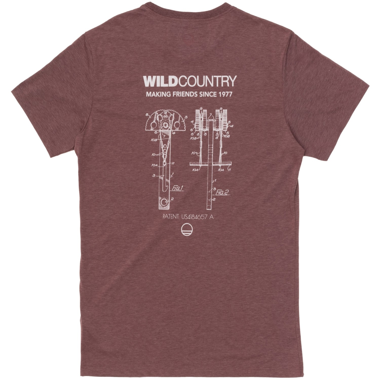 Wild Country Curbar Tee - Tawny Port Melange