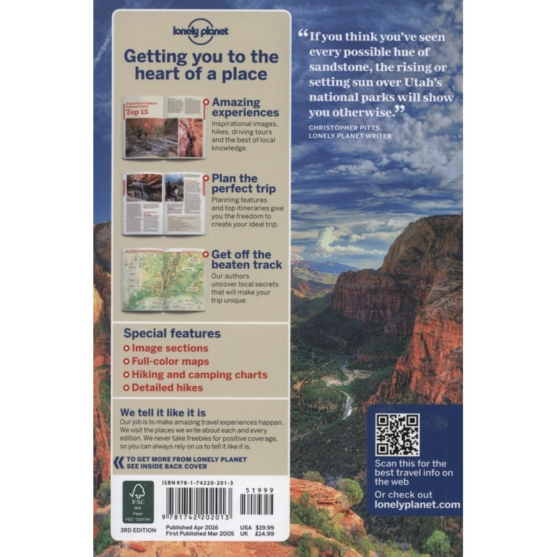 Zion & Bryce Canyon National Parks: Lonely Planet Travel Guide