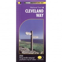 Cleveland Way map by Harvey