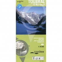 Toubkal & Marrakech Hiking Map by Cordee