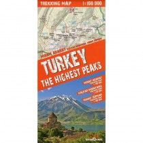Turkey The Highest Peaks Trekking Map by terraQuest