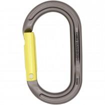 Dmm Oval Plain Gate Karabiner - Titanium / Lime