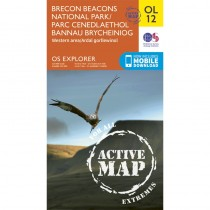 OL12 Brecon Beacons National Park - Parc Cenedlaethol Bannau Brycheiniog: Western area - Ardal gorll by Ordnance Survey