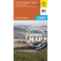 OL16 The Cheviot Hills ACTIVE: Jedburgh & Wooler by Ordnance Survey