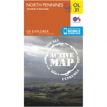 OL31 North Pennines ACTIVE Teesdale and Weardale by Ordnance Survey