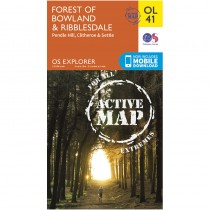 OL41 Forest of Bowland & Ribblesdale ACTIVE: Pendle Hill Clitheroe and Settle by Ordnance Survey