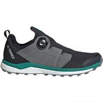 Terrex Agravic Boa Men's Trail Running Shoe - Carbon Three F17/Active Green