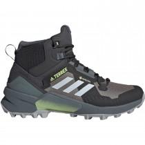 Terrex Swift R3 GTX Mid Hiking Shoe - Women's - Grey Three/Halo Blue/Hi-res Yellow