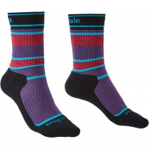 Bridgedale HIKE Junior All Season Merino Performance Socks  - Purple/Black