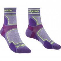 Bridgedale TRAIL RUN Ultra Light T2 Coolmax 3/4 Crew Running Socks - Women's - Purple