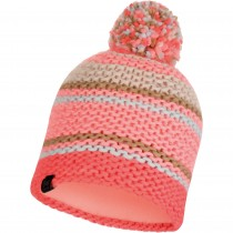 Buff Dorian Knitted Hat - Coral Pink