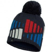 Buff Mitch Knitted and Fleece Hat - Navy