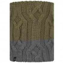 Buff Ganbat Knitted and Fleece Neckwarmer - Kids - Bark