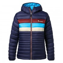 Cotopaxi Fuego Down Hooded Jacket - Womens - Maritime Stripes