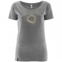 DMM Torque Women's T-Shirt - Melange Grey/White
