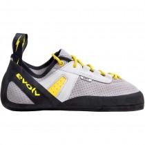 Evolv Defy Lace Climbing Shoe - Grey/Yellow