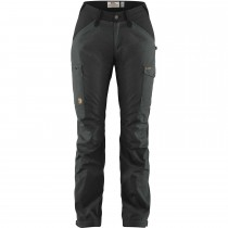 Fjällräven Kaipak Curved Trousers - Women's - Dark Grey/Black